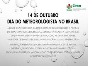 14 de outubro, dia do Meteorologista no Brasil