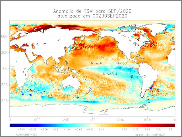 Previsão Climática Trimestral para Santa Catarina