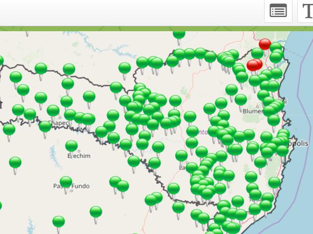 Previsão de Risco de Deslizamento na plataforma Agroconnect é confirmado na região de Joinville