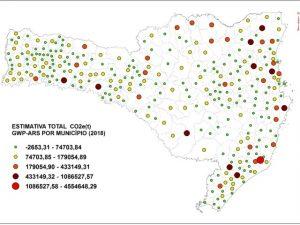 Read more about the article José Boiteux é o município que mais remove e Capivari de Baixo é o que mais emite gases de efeito estufa no estado de Santa Catarina