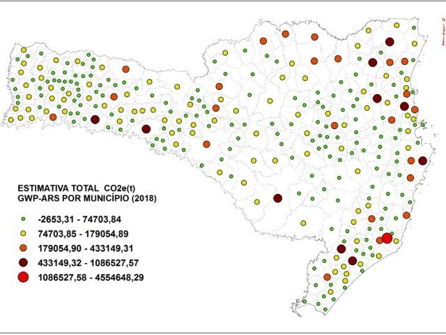 José Boiteux é o município que mais remove e Capivari de Baixo é o que mais emite gases de efeito estufa no estado de Santa Catarina