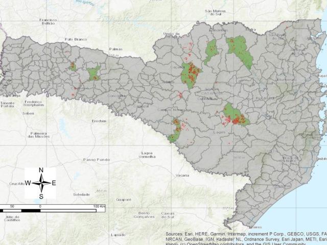 Mapeamento de uso e cobertura da terra em pequenas propriedades rurais familiares catarinenses