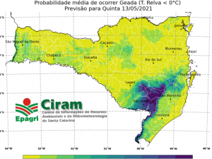 Read more about the article Site da Epagri/Ciram possui a mais completa ferramenta de previsão de geada do Brasil